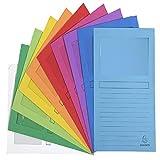 Exacompta 50000E - Lote de 50 Subcarpetas Forever 120 con Ventana e Impresas, Colores Surtidos Vivos (Multicolor) 22 x 31 cm